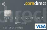Kreditkarte von comdirect